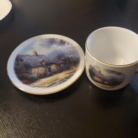 """Thomas Kinkade"""" Moonlight Cottage"""" Cup and Saucer"""